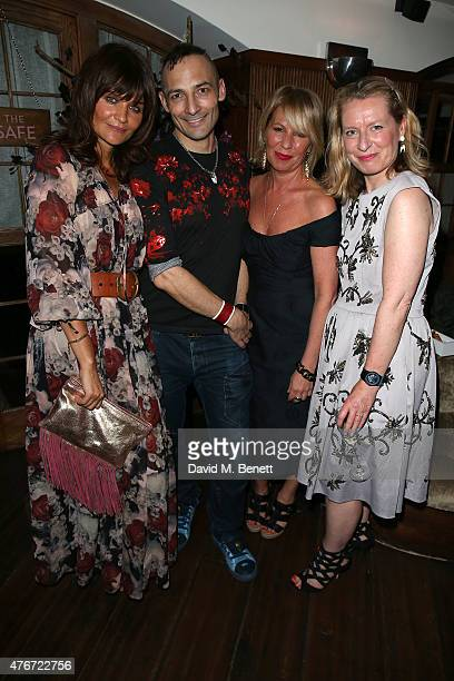 Helena Christensen Christophe Laudamiel Elizabeth Gaynes and Sarah Bailey attend a private dinner hosted by Helena Christensen to launch her new eau...
