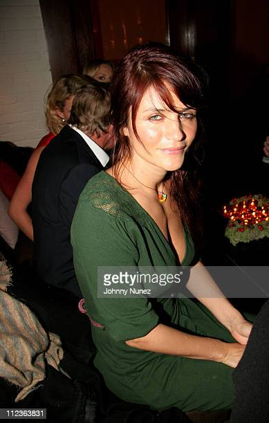Helena Christensen during Naomi Campbell and Giuseppe Cipriani Holiday Party December 5 2005 at Cipriani in New York New York United States