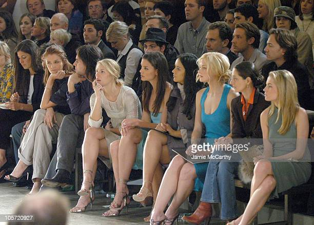 Helena Christensen guest Claire Danes Katie Holmes Catalina Sandino Moreno Jaime King guest and Amanda Hearst