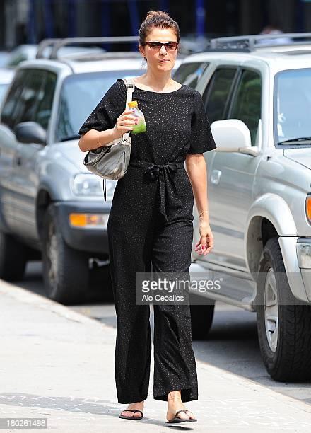Helena Christensen is seen in Soho on September 10 2013 in New York City