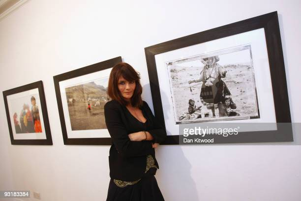 Helena Christensen launches her new photographic exhibition 'Meltdown' at Proud Gallery Central on November 18 2009 in London England Christensen's...