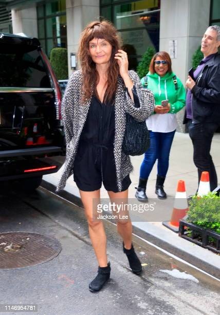Helena Christensen out and about on May 30, 2019 in New York City.