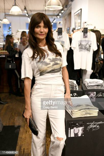 Helena Christensen poses for a photo during Helena Christensen and Marcus Wainwright celebrate A Damn Good T-Shirt with rag & boneon on May 16, 2019...