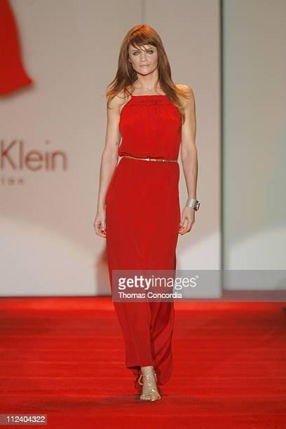 Helena Christensen wearing Calvin Klein during Heart Truth Red Dress Fall 2007