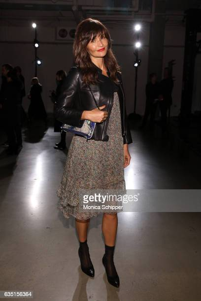 Helena Christiansen attends the Zadig Voltaire fashion show during New York Fashion Week at Skylight Modern on February 13 2017 in New York City