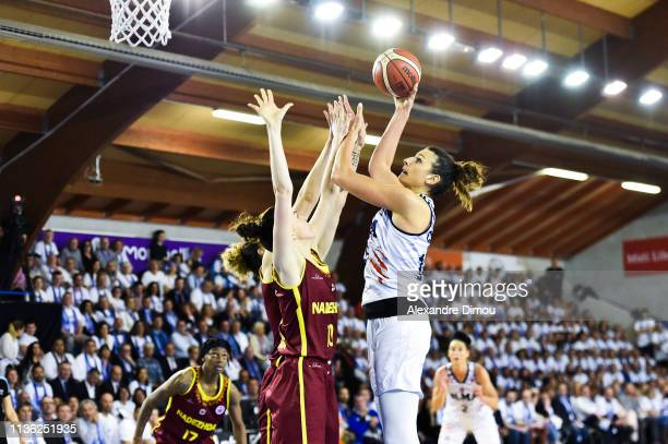 Helena Ciak of Montpellier and Anastasia Shilova of Orenburg during the Final Women EuroCup match between Montpellier Lattes and Nadezhda Orenburg on...