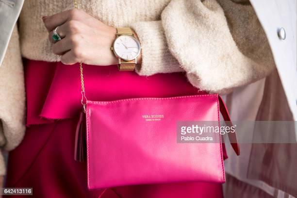 e3ca5362411 Helena Cuevas wears Mango pullover and shoes Zara skirt Asos jacket and  Vera Blonde handbag at