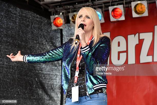 Helena Fuerst performs at the 'BILD Renntag' At Trabrennbahn Gelsenkirchen on Mai 01 2016 in Gelsenjirchen Germany