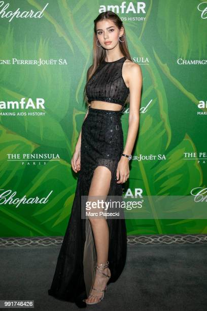 Helena Gatsby attend the amfAR Paris Dinner 2018 at The Peninsula Hotel on July 4 2018 in Paris France