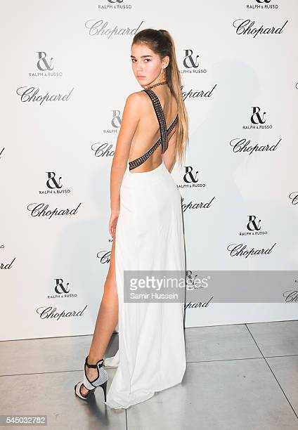 Helena Gatsby attends the Ralph Russo And Chopard Host Dinner as part of Paris Fashion Week on July 4 2016 in Paris France