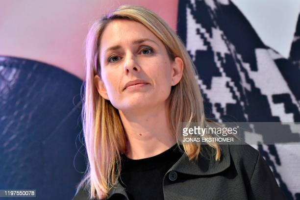 Helena Helmersson, designated CEO of Swedish clothing retail giant Hennes and Mauritz , arrives for a press conference at the company's headquaters...