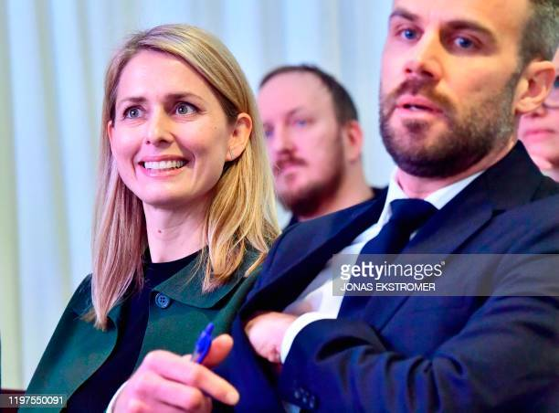 Helena Helmersson , designated CEO of Swedish clothing retail giant Hennes and Mauritz , attends a press conference at the company's headquaters in...