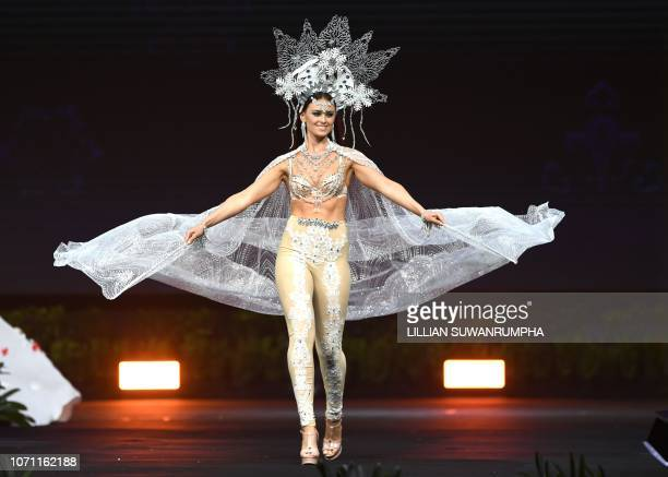 Helena Heuser Miss Denmark 2018 walks on stage during the 2018 Miss Universe national costume presentation in Chonburi province on December 10 2018