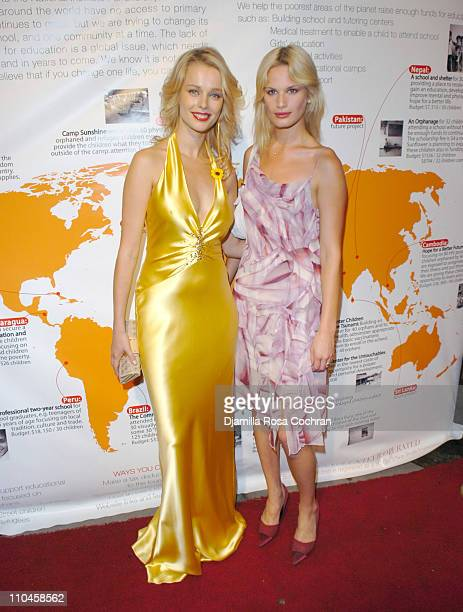 Helena Houdanova and Vicky Andren during Sunflower Children of India's Fashion and Philanthropy Benefit to Support Tsunami Orphans of India at PM...