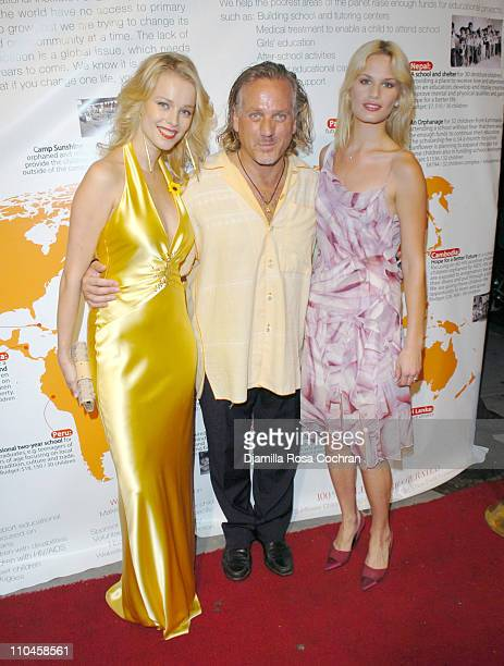 Helena Houdanova Mark Baker and Vicky Andren during Sunflower Children of India's Fashion and Philanthropy Benefit to Support Tsunami Orphans of...