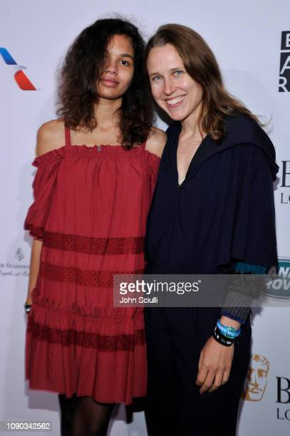 Helena Howard and Josephine Decker arrive to the BAFTA Tea Party at The Four Seasons Hotel Los Angeles at Beverly Hills on January 05 2019 in Beverly...