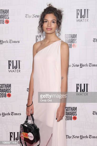 Helena Howard attends the 2018 IFP Gotham Awards with FIJI Water at Cipriani Wall Street on November 26 2018 in New York City