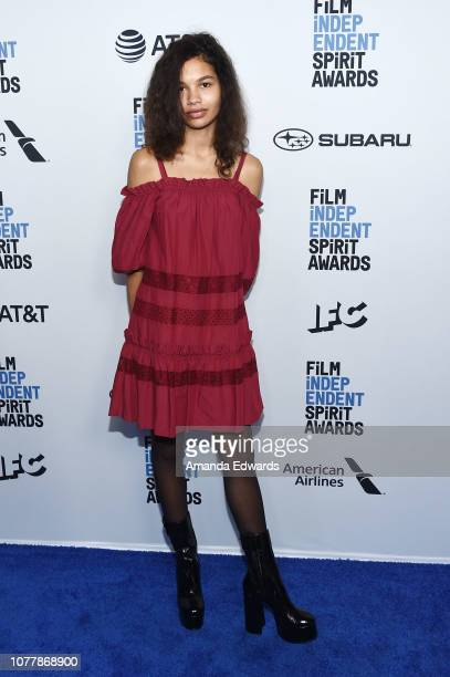 Helena Howard attends the 2019 Film Independent Spirit Awards nominee brunch at BOA Steakhouse on January 5 2019 in West Hollywood California