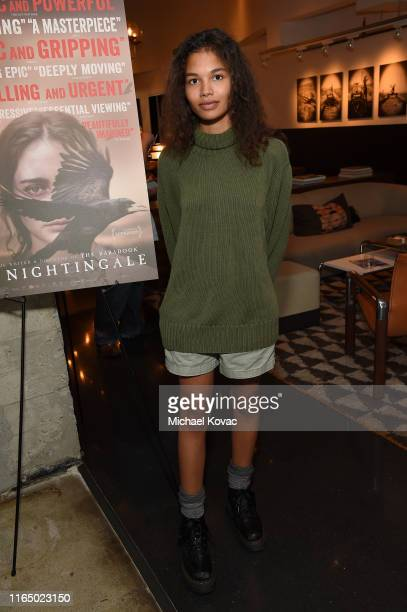 Helena Howard attends the Los Angeles Special Screening of The Nightingale at NeueHouse Los Angeles on July 29 2019 in Hollywood California