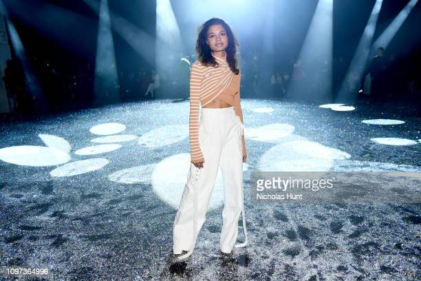 Helena Howard attends the Sies Marjan FW'19 Runway Show at SIR Stage on February 10 2019 in New York City