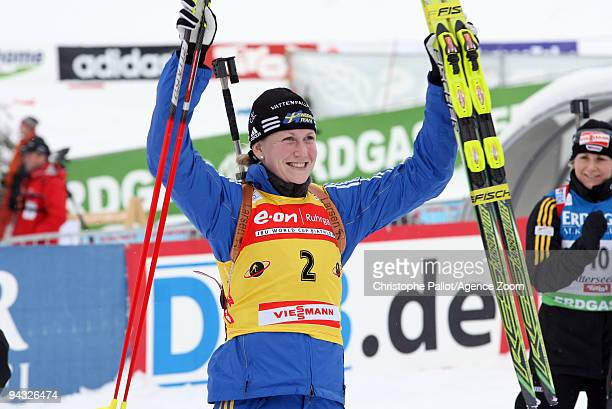 Helena Jonsson of Sweden takes 1st place during the eon Ruhrgas IBU Biathlon World Cup Women's 10 km Pursuit on December 12 2009 in Hochfilzen Austria