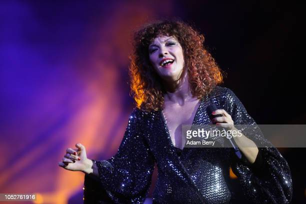 Helena Josefsson performs with Roxette during a concert at Admiralspalast on October 22, 2018 in Berlin, Germany.