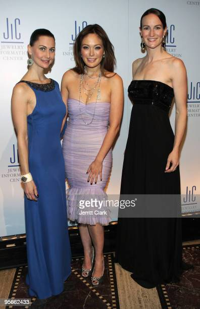 Helena Krobel Lindsey Price and Amanda Gizzi attend the Jewelry Information Center's 8th Annual GEM Awards Gala at Gotham Hall on January 8 2010 in...