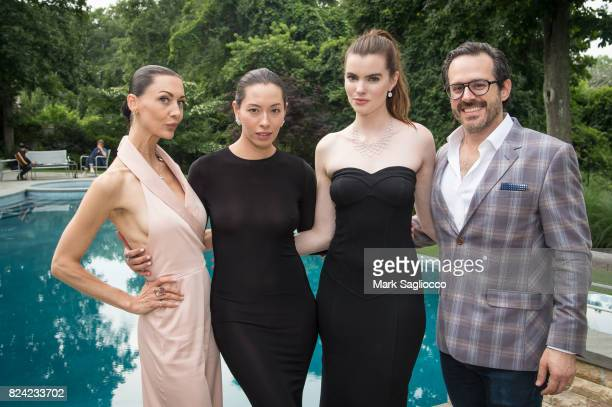 Helena Krodel Lily Holster Kaley Ronayne and David Alan attend the Hamptons Magazine Celebration with Cover Star Elettra Wiedemannon July 28 2017 in...