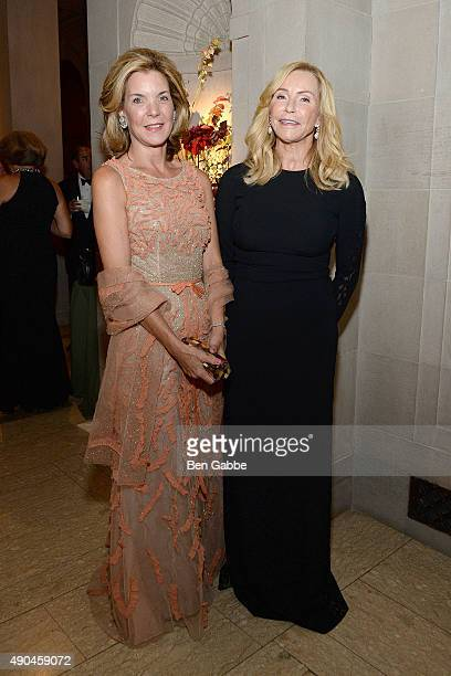 Helena Martinez and Dailey Pattee attend the 2015 Frick Collection Autumn Dinner at The Frick Collection on September 28 2015 in New York City