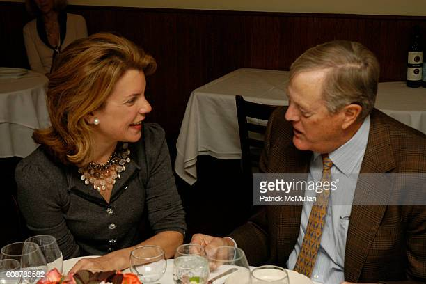 Helena Martinez and David Koch attend MARIANNE JOHN CASTLE Host a Dinner Party at Primola on October 21 2007 in New York City