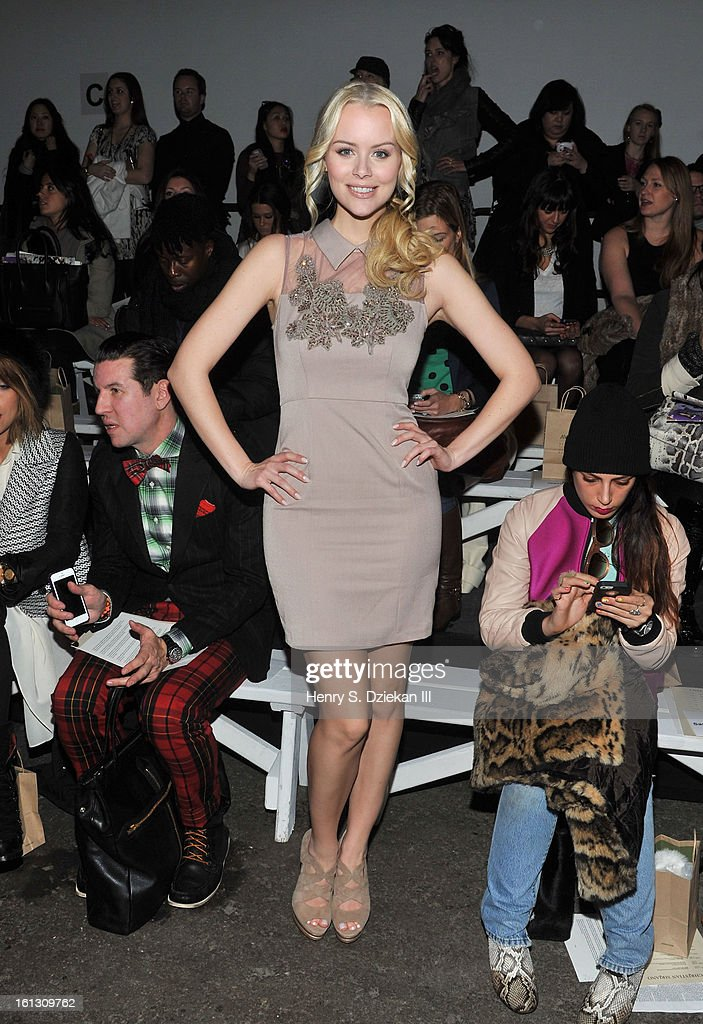 Helena Mattsson attends Christian Siriano during Fall 2013 Mercedes-Benz Fashion Week at Eyebeam on February 9, 2013 in New York City.