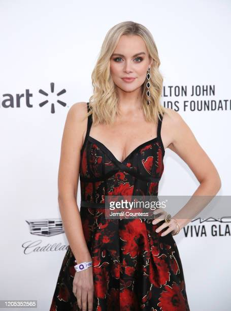 Helena Mattsson attends the 28th Annual Elton John AIDS Foundation Academy Awards Viewing Party sponsored by IMDb, Neuro Drinks and Walmart on...
