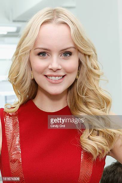 Helena Mattsson attends the Carmen Marc Valvo Spring 2013 fashion show during MercedesBenz Fashion Week on September 9 2012 in New York City