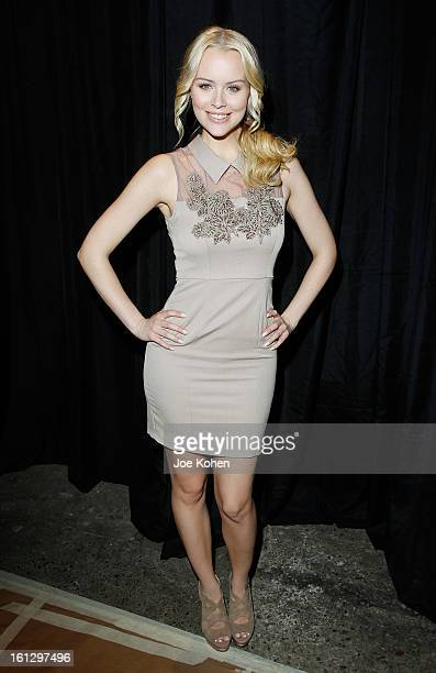 Helena Mattsson attends the Christian Siriano Fall 2013 fashion show during MercedesBenz Fashion Week on February 9 2013 in New York City