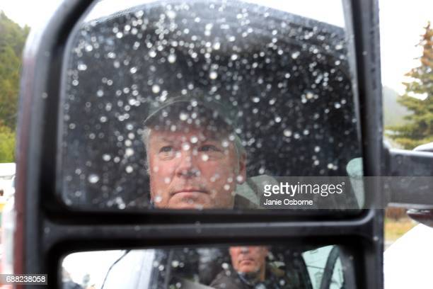 Helena Montana resident Dave Swanson age 56 stops in the road in his car as Montana holds a special House election between Republican Greg Gianforte...