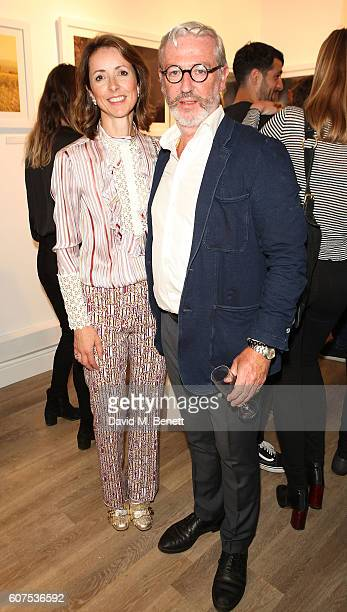 Helena Morrissey and Richard Morrissey attend a private view of Anouska Beckwith's solo exhibition 'UniVerse' at Palm Tree Gallery on September 16...