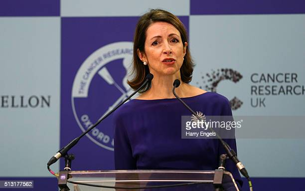 Helena Morrissey CEO of Newton Investment Management addresses the media during The 2016 Cancer Research UK Boat Races Crew Announcement at Central...