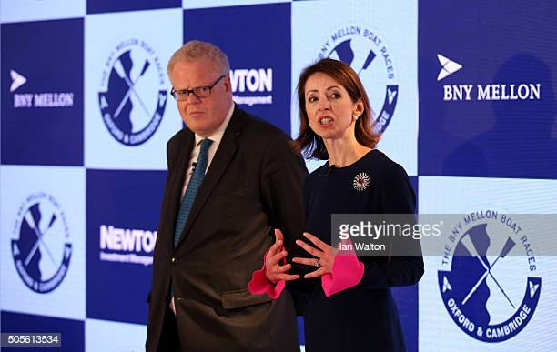 Helena Morrissey CEO of Newton Investment Management speaks during The 2016 BNY Mellon Boat Races press conference where BNY Mellon and Newton...