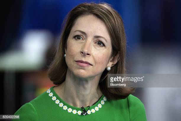 Helena Morrissey chief executive officer of Newton Capital Management Ltd looks on during a Bloomberg Television interview in London UK on Monday...