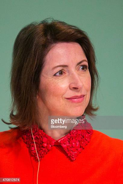 Helena Morrissey founder of the 30 Percent Club and chief executive officer of Newton Capital Management pauses as she addresses the global female...