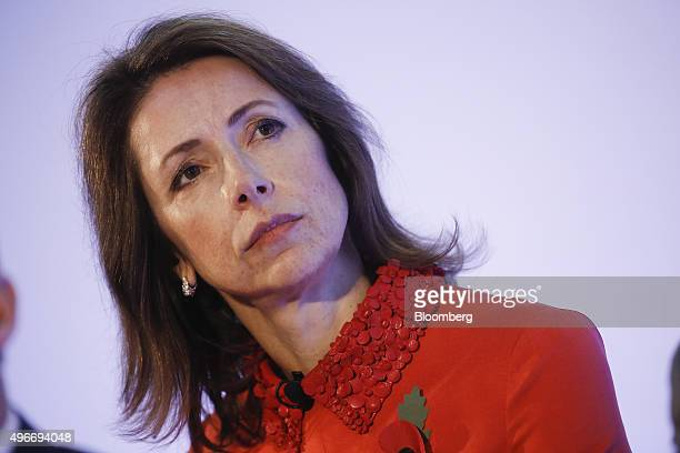 Helena Morrissey founder of the 30 Percent Club and chief executive officer of Newton Capital Management pauses at the Bank of England Open Forum at...