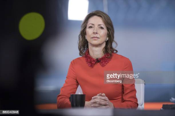 Helena Morrissey head of personal investing at Legal General Investment Management Ltd pauses during a Bloomberg Television interview in London UK on...