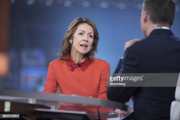 Helena Morrissey head of personal investing at Legal General Investment Management Ltd speaks during a Bloomberg Television interview in London UK on...