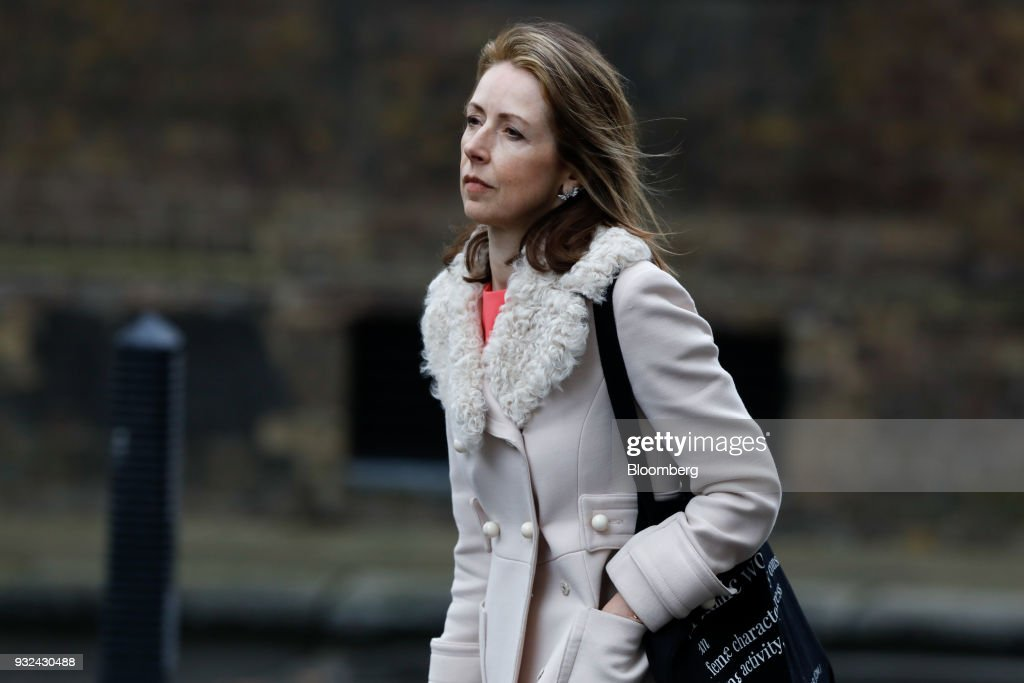 Helena Morrissey, head of personal investing at Legal & General Investment Management Ltd., arrives for a meeting of the Business Advisory Council at Downing Street in London, U.K., on Thursday, March 15, 2018. U.K. Prime Minister Theresa May is due to meet business leaders on Thursday to discuss Britain's departure from the European Union. Photographer: Luke MacGregor/Bloomberg via Getty Images