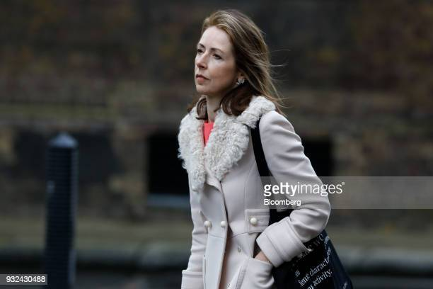 Helena Morrissey head of personal investing at Legal General Investment Management Ltd arrives for a meeting of the BusinessAdvisoryCouncil at...
