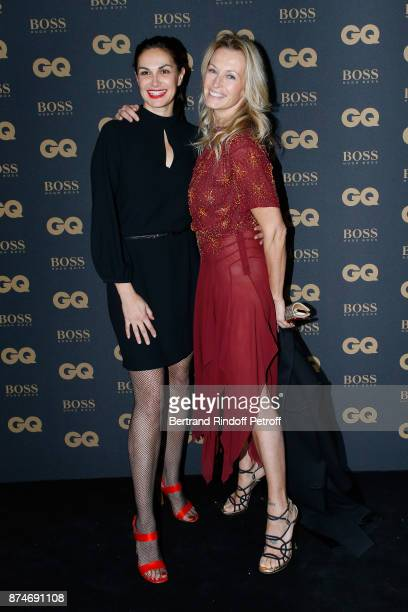 Helena Noguerra and Estelle Lefebure attend the GQ Men of the Year Awards 2017 at Le Trianon on November 15 2017 in Paris France
