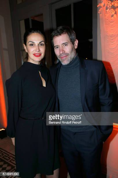 Helena Noguerra and Jalil Lespert attend the GQ Men of the Year Awards 2017 at Le Trianon on November 15 2017 in Paris France