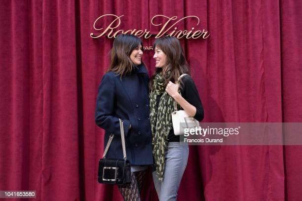 Helena Noguerra and Mareva Galanter attend the Roger Vivier Presentation Spring/Summer 2019 during Paris Fashion Week on September 27 2018 in Paris...