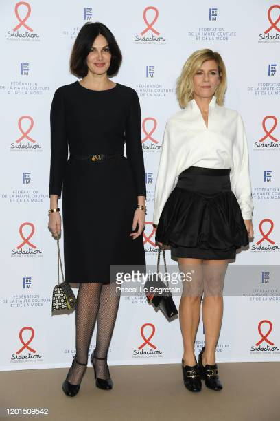 Helena Noguerra and Marina Fois attend Sidaction Gala Dinner 2020 At Pavillon Cambon on January 23 2020 in Paris France