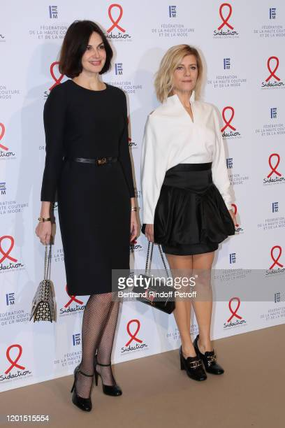 Helena Noguerra and Marina Fois attend the Sidaction Gala Dinner 2020 at Pavillon Cambon on January 23 2020 in Paris France